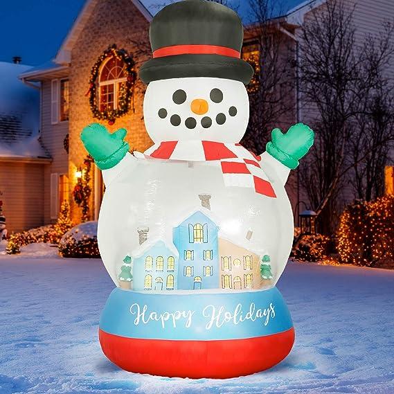 Amazon.com: Holidayana - Bola de nieve hinchable de Navidad ...