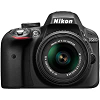 Nikon D3300 Digital SLR Camera with 18-55mm VR II Lens Kit (24.2 MP, 3 inch LCD) - Black