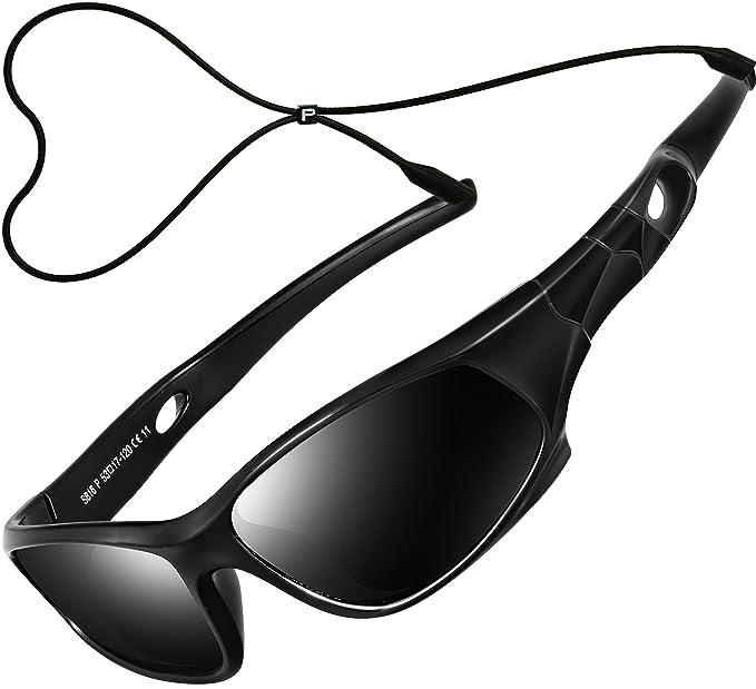 4b009f68d61 ATTCL Kids Polarized Sports Sunglasses Wayfarer For Boys 5025 black black