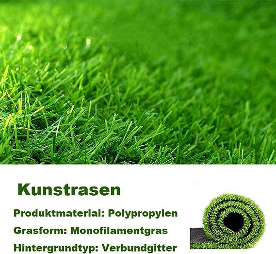 Rasenteppich gr/ün mit 20mm Noppen PUCHIKA Kunstrasen f/ür Balkon und Garten Rollrasen mit Meterware f/ür Terrasse Wasserdurchl/ässig