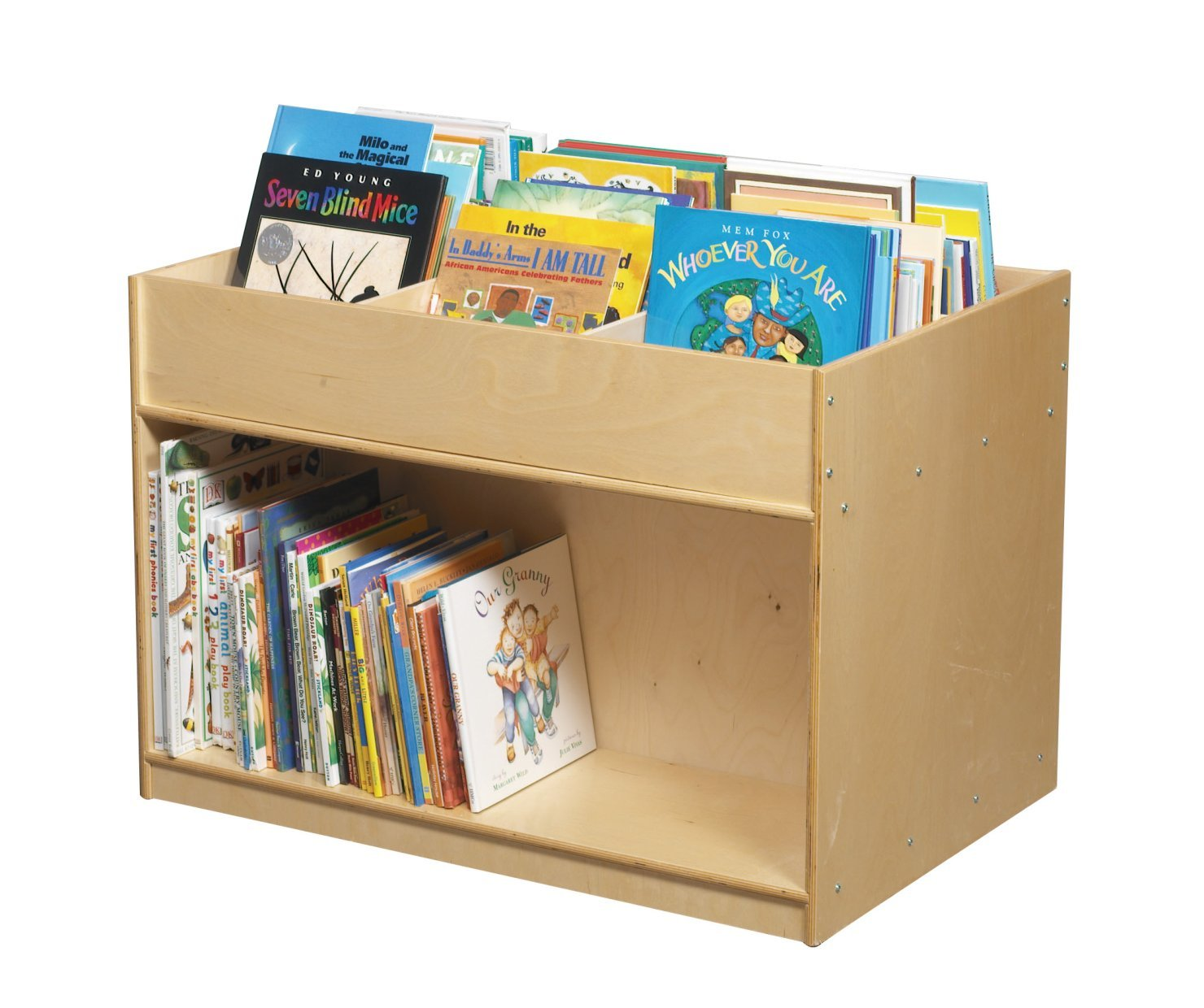 Childcraft 830018 Double-Sided Mobile Book Center, 36 x 24 x 25-7/8 Inches 25 88 Inches Height,24 Inches Width,36 Inches Length,Natural Wood