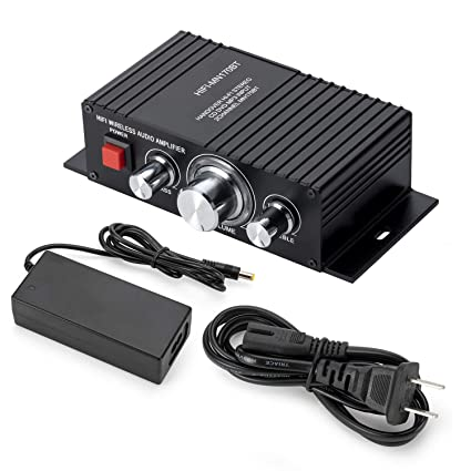 LSLYA Mini Amplificador, Clase D Digital Amplificadores estéreo 50W, Alta fidelidad Subwoofer AMP,