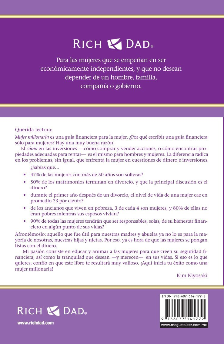 Mujer Millonaria/Rich Woman: A Book on Investing for Women (Spanish ...