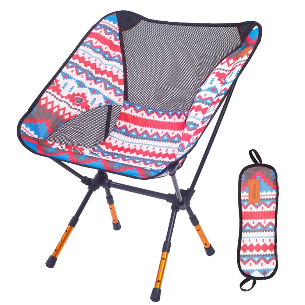 Red 574371cm ZHAOYONGLI Footstools,Otools Portable Foldable Aluminum Camping Travel Chair Fishing Hiking Stool Backpacking Seat Stool (color   orange, Size   57  43  71cm)