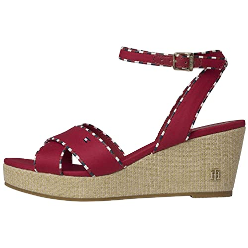 Tommy Hilfiger Corporate Detail Mid Wedge Womens Sandals 37