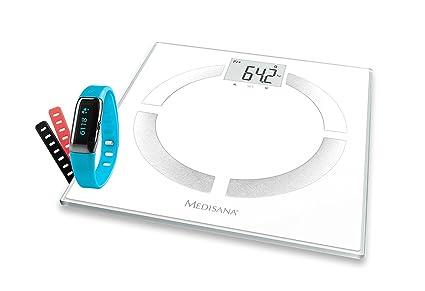 Medisana Connected Health Bundle BS 444 - Pack de báscula digital y pulsera de actividad,