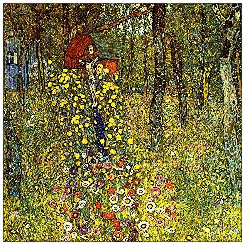 ArtPlaza Klimt Gustav - Garden with crucifix Panneau Décoratif, Bois, Multicolore, 30 x 1.8 x 30 cmAS90336
