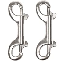 Double Ended Bolt Snap Hooks, 3-1/2 Inch Marine Grade Double End Scuba Diving Clips, 316 Stainless Steel Trigger Chain…
