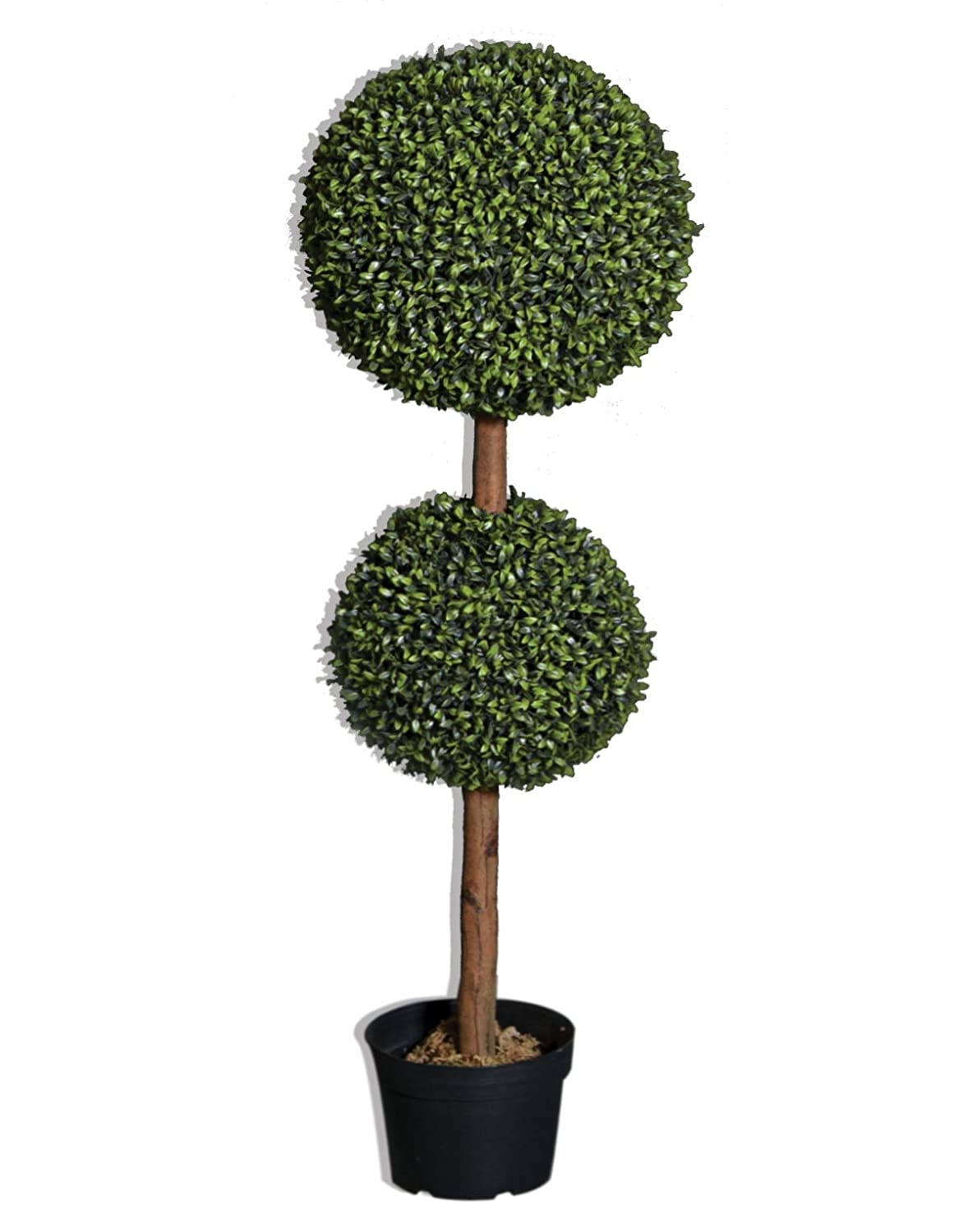 Amazon.com: Artificial Boxwood Double Topiary Tree - 3 feet tall ...