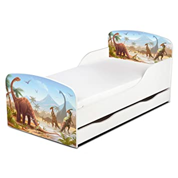 new product 8e601 5bec1 Price Right Home Jurassic Dinosaurs Toddler Bed with Underbed Storage