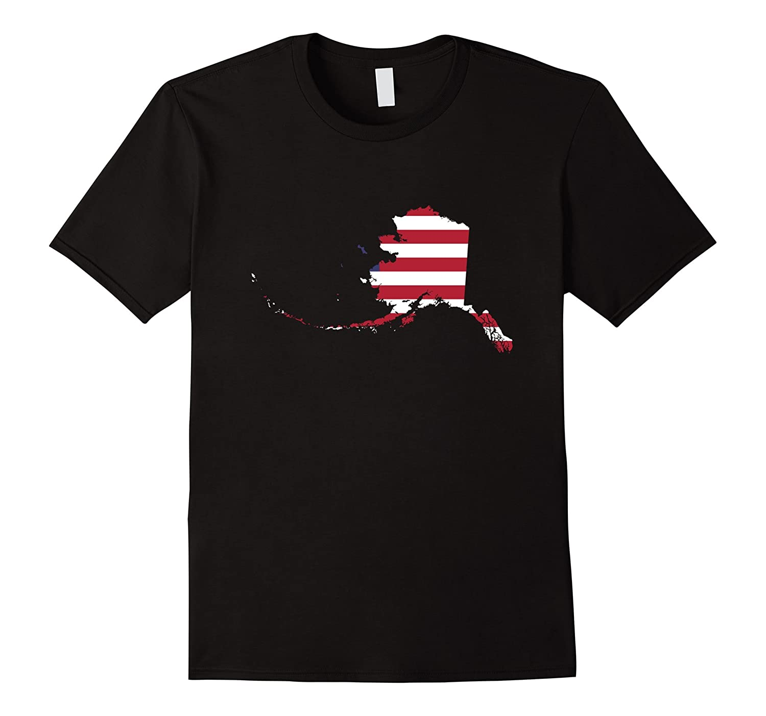 4th Of July Alaska State American Flag Patriotic Celebration Party T-Shirt-Art