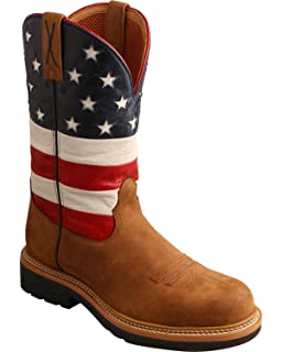 Twisted X Men's American Flag Vfw Top Hand Cowboy Boot Square Toe
