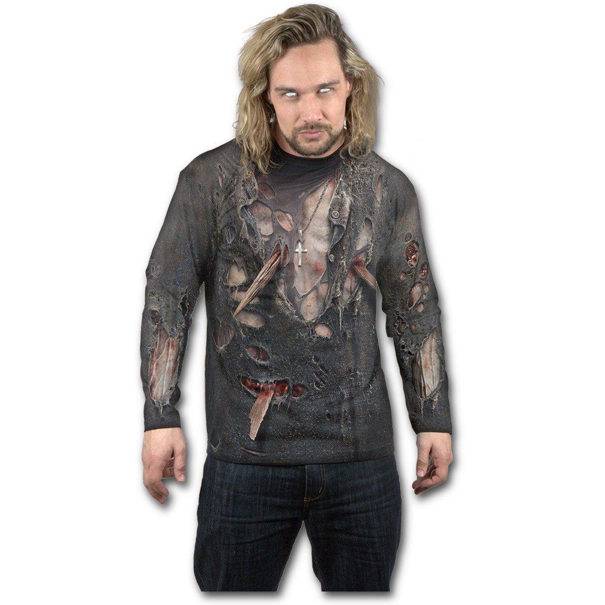 Spiral Men - Zombie Wrap - allover Longsleeve T-Shirt Black W028M304