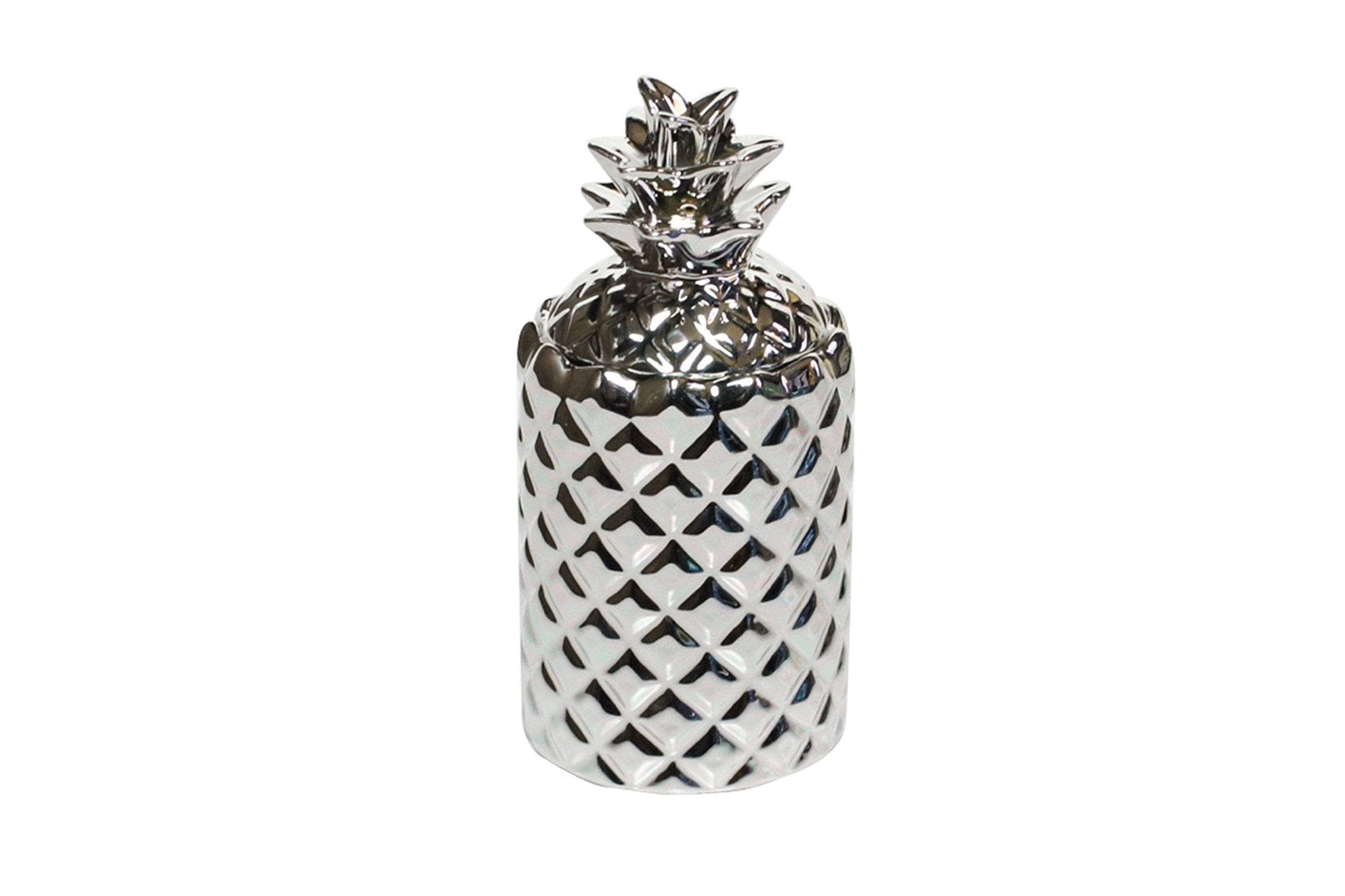 Thompson Ferrier - Pineapple scented candle collection - White Tea & Mint fragrance Home Decor Candle - Silver - Hand sculpted and hand poured with the finest essential oils
