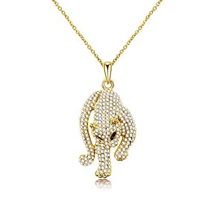 panther necklace head leopard pendant jewelry animal itm ebay silver mens gold s chain
