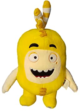 Oddbods Large 30cm Plush Soft Cuddly Toy Newt Bubbles Pogo Zee Jeff Fuse Slick (Yellow