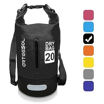 IP66 100/% Waterproof Backpack Bag with Waist Strap for Beach Arteesol Dry Bag