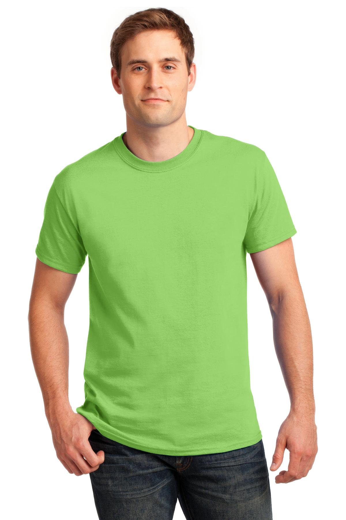 Gildan mens Ultra Cotton 6 oz. T-Shirt(G200)-LIME-4XL