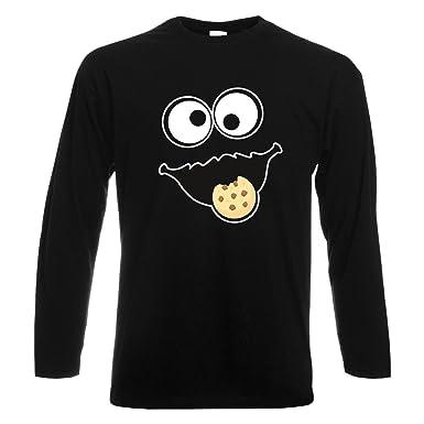 d407045164 Keks Monster Unisex Langarm-Shirt Gruppen Kostüm Karneval Verkleidung Party  JGA Black S