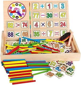 B Blesiya Juegos de Caja de Accesorios Matemático de Madera Aprendizaje para Niños 4-6 Años: Amazon.es: Juguetes y juegos