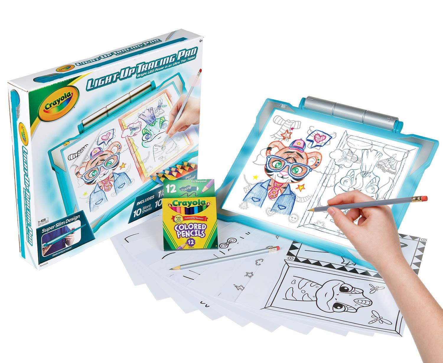 Crayola Light Up Tracing Pad Teal Amazon Exclusive Toys Gift For Kids Ages 6 7 8 9 10 04 0830 Inspiration