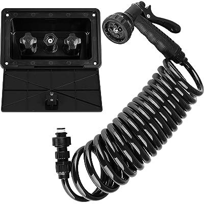 Dura Faucet DF-SA189-BK RV Exterior Quick Connect Sprayer, Hose, and Exterior Spray Box Kit (Black): Automotive