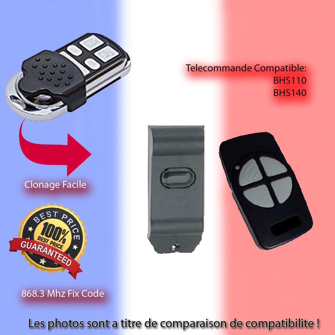 Compatible avec BERNER BHS110, BHS140 4 Té lé commande de remplacement, Clone BHS140 4 Télécommande de remplacement
