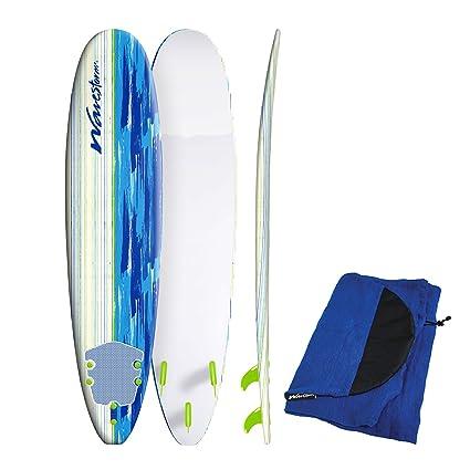 Amazon Com Wavestorm 8 Classic Longboard Surfboard With Board