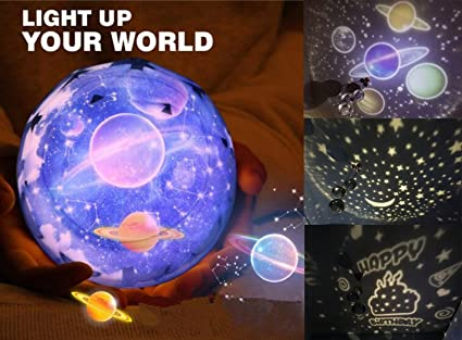 Star Night Light para Niños, Universo Starry Star giratorio Planet ...