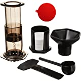 Aeropress Coffee and Espresso Maker with Accessory, Value Pack