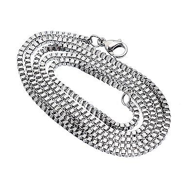 KY Jewelry Cadena de Acero Inoxidable para Hombre y Mujer, 2 ...