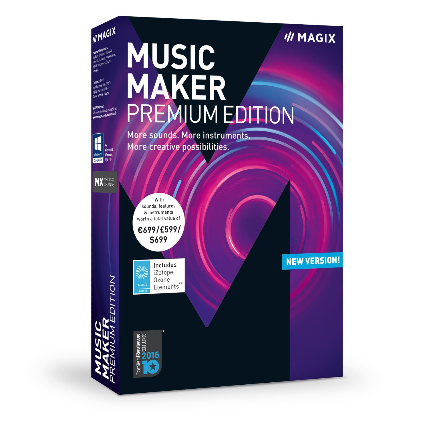 MAGIX Music Maker - 2018 Premium Edition - The audio software with more sounds, instruments and creative options by MAGIX