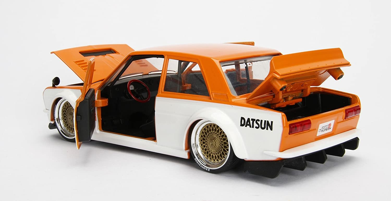 1973 Datsun 510 Widebody JDM Tuners Silver Black 1:24 Jada Toys 99095
