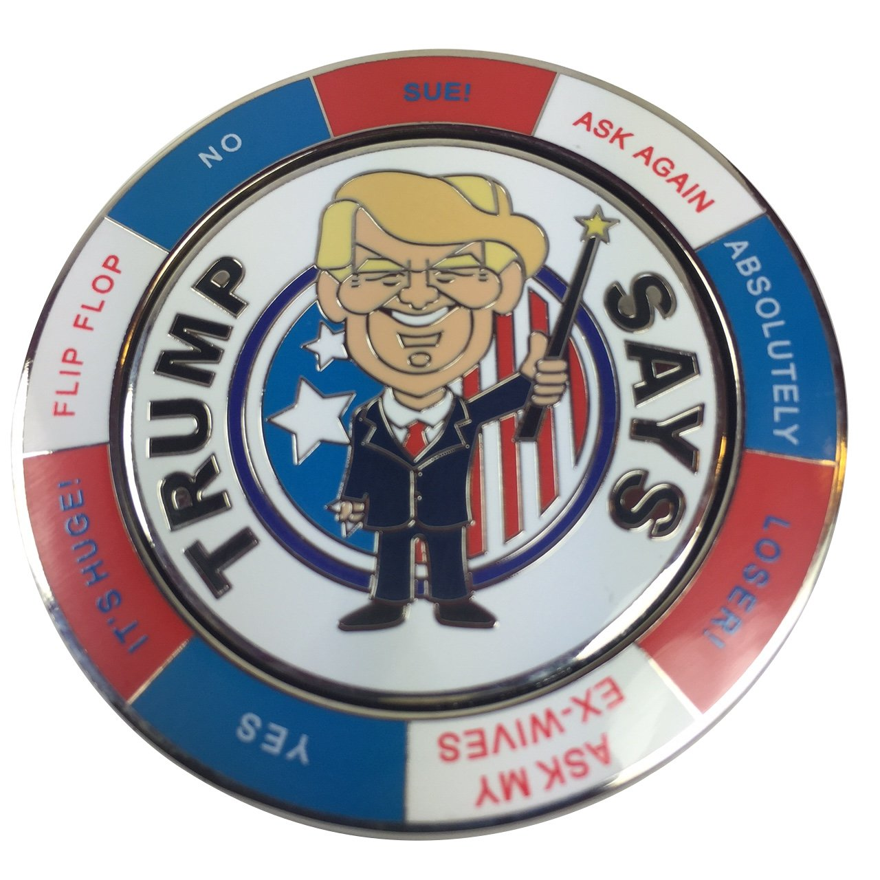 Ask Trump Spinning Decision Maker Coin by pokerweights Poker Weights