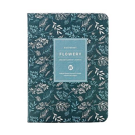 Amazon.com: Cuaderno de flores de Kawaii A6 con planificador ...