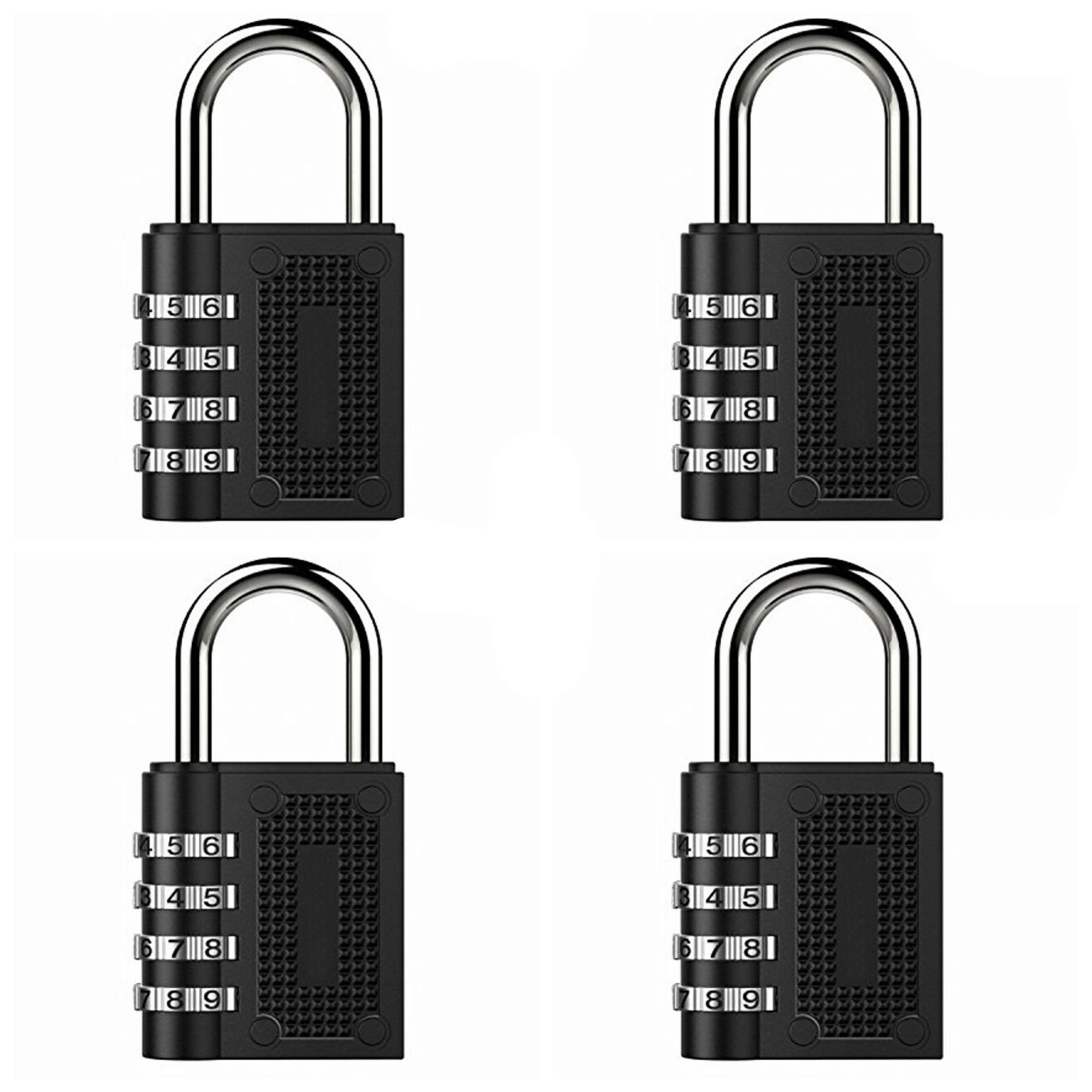 Eilin 4 Pack Combination Lock, Suitable for School、Home、Office、Storage Lockers、Gym Lockers、Drawers、Cabinets、Toolboxes、Luggage Suitcase Baggage Locks, Set Your Own Combination