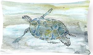 Caroline's Treasures SC2006PW1216 Sea Turtle Watercolor Canvas Fabric Decorative Pillow, 12H x16W, Multicolor