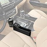 KMMOTORS Coin Side Pocket, Console Side Pocket, Car Organizer Black Driver