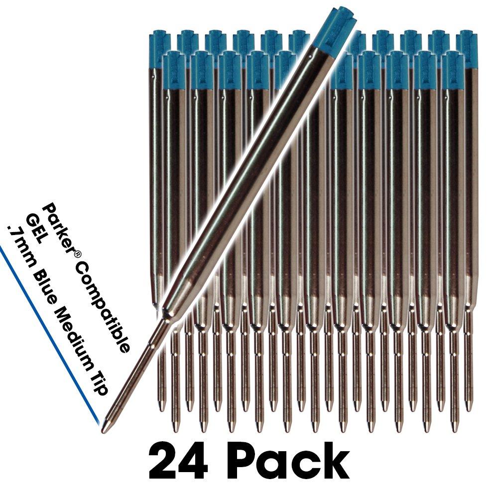 6 Escritura fluida en tinta alemana y punta mediana 0,7mm azul Reemplazo de tinta de gel para bol/ígrafos compatible con Parker Jaymo