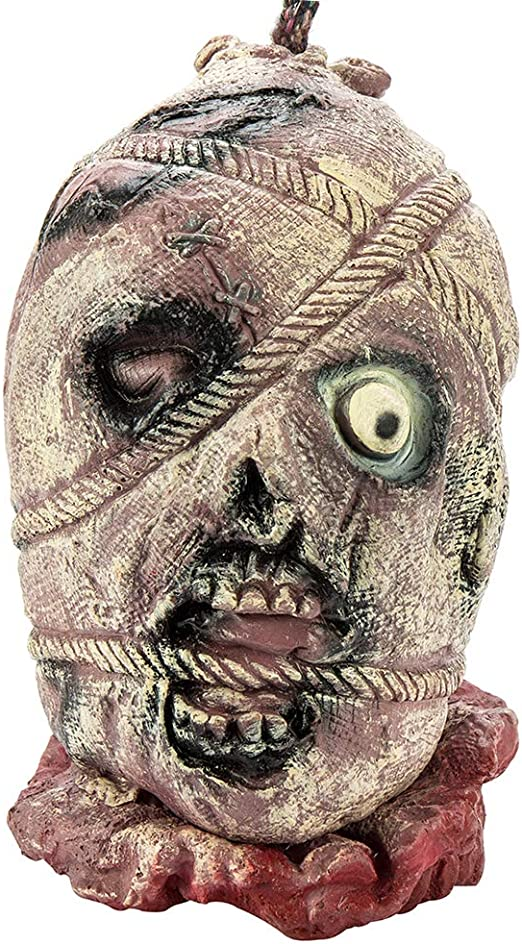 SEVERED HEAD MASK  ADULT ACCESSORY PROP HALLOWEEN ZOMBIE BLOODY HORROR