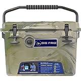 Big Frig Army Camo Denali Cooler (20 Quart) Bundle includes Cutting Board/Divider, Basket, 5 Year Limited Warranty