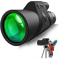 Simitten 12X42 High Power Monocular Telescope, Monocular with Smart Phone Adapter,Binocular Scope for Adult,for Bird…