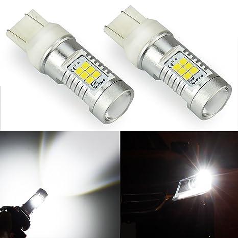 JDM ASTAR 1260 lumens muy brillante PX chipsets 7443 7444 bombillas LED, Xenon Blanco