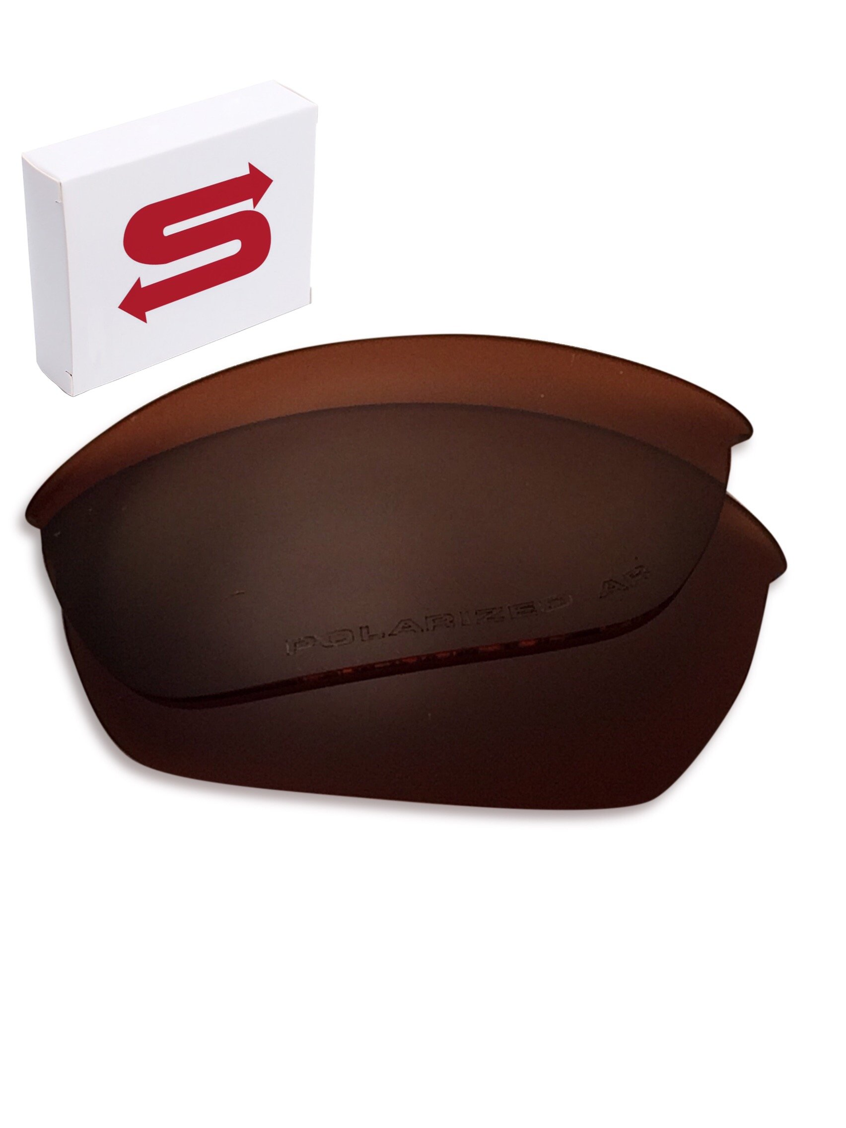 BROWN Oakley Half Jacket 2.0 Lenses POLARIZED by Lens Swap. QUALITY & PERFECT FIT