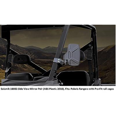 Seizmik Folding Side View Mirrors Compatible for Yamaha YXR700F Rhino 700 FI 2008-2011 - Pair: Automotive