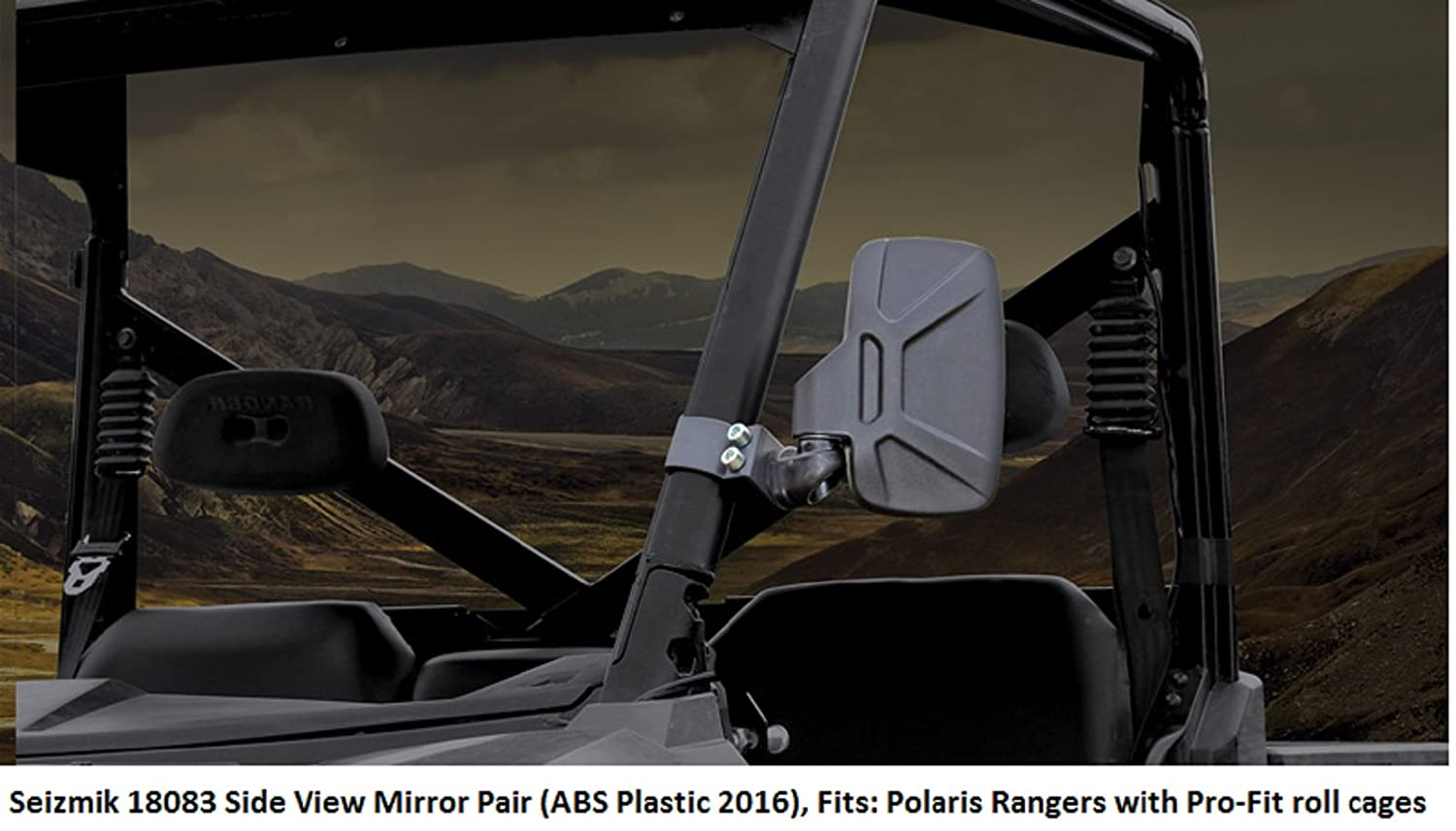 New Seizmik Inside Rear View Mirror Polaris Ranger XP 900 2011-2015