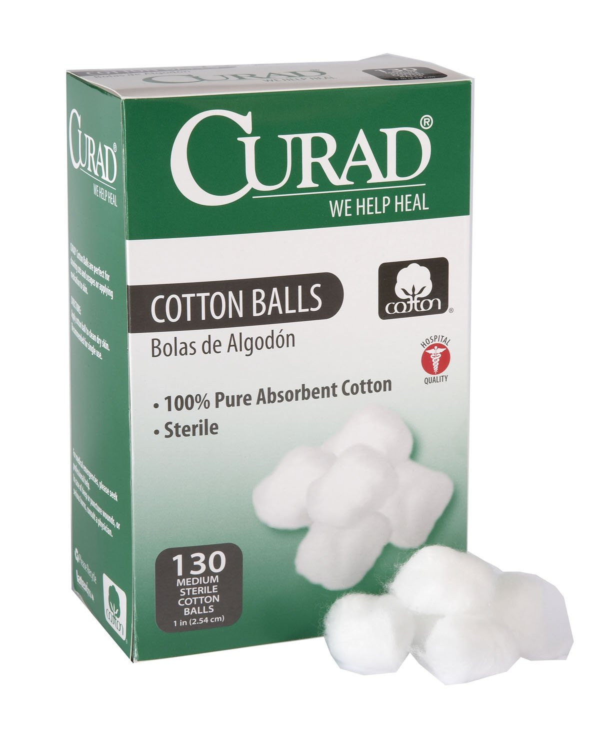 Curad Cotton Balls 130 Each (Pack of 6)