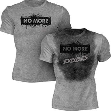 5c579786 Amazon.com: Workout Sweat Activated Shirt   Funny Motivational Tee   No  More - Excuses: Clothing