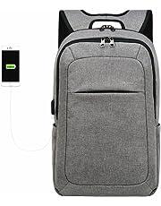 Kopack Computer Backpack 17 inch Water Resistant/USB Port/Anti-Theft Slim Travel Laptop Backpack for College School Business Black