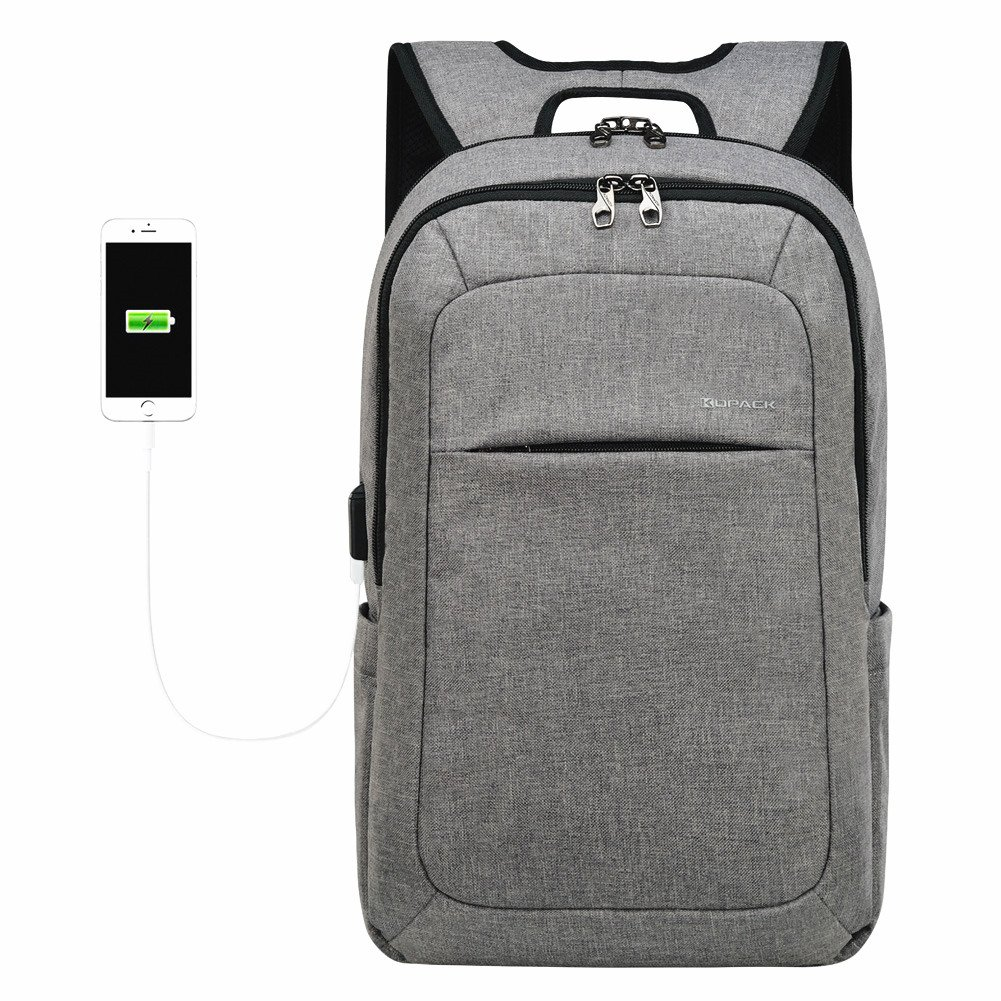 f392dc5abaa5b Amazon.com  Kopack Slim Laptop Backpacks Anti Thief Tear Water Resistant  Business Computer Bag 15 15.6 inch Gray  Computers   Accessories